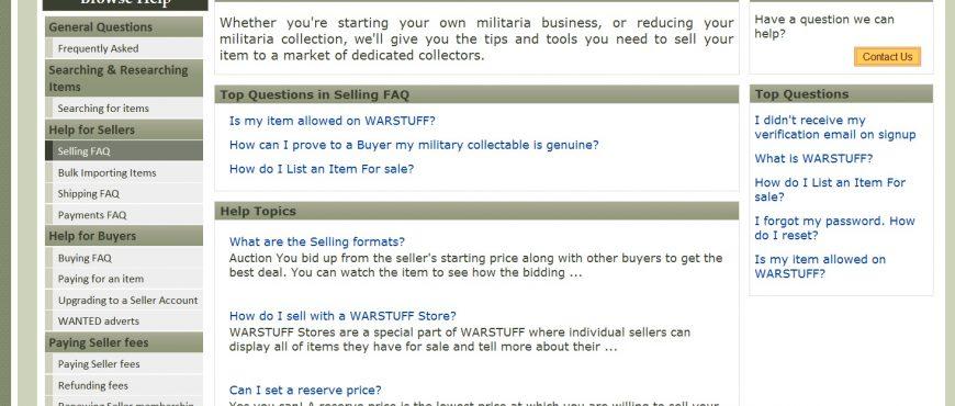 WARSTUFF marketplace updates
